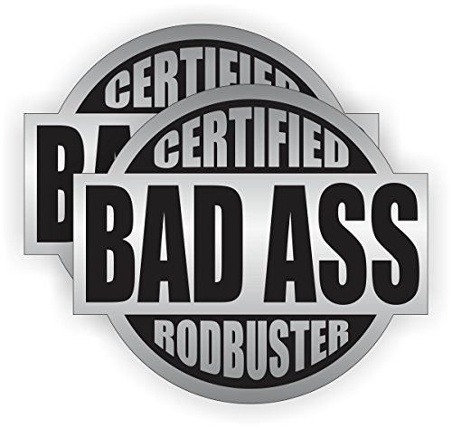 Bad Ass Rodbuster Hard Hat Sticker / Helmet Decal Label Lunch Tool Box Rod Buster