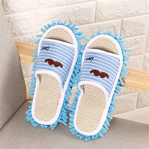 KCCCC Zapatillas de trapeador 2 Pares de Zapatillas Lazy Home Mopping Slippers Limpiador de Zapatillas Soft Soft Resistant Herramientas de Limpieza Zapatillas de Limpieza de Piso