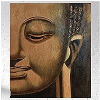 bdkym キャンバスに油絵仏古典家の装飾壁アート写真ポスター-50X50Cmx1フレームなし