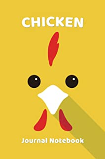 Chicken Notebook Journal: Zoo Farm Animal Face Close Up Note Book Journal Diary, Cool Gift for Men, Women, Kids 118 pages ...