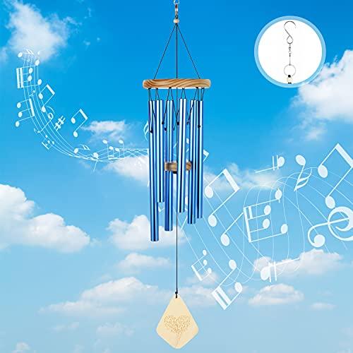 Lemecima Campane a Vento Carillon Vento Campanello a Vento con 6 Tubi di Alluminio, Scacciaspiriti...