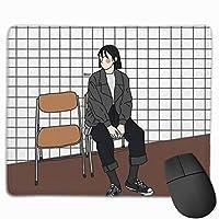 ウェイトラグ滑り止めユニークなデザインゲーミングマウスパッド長方形マウスパッドアートステッチエッジ付き天然ゴムマウスマット、30x25 cm / 11.8x9.8 in