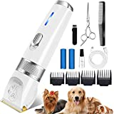 Merece Dog Clippers Grooming Kit - Professional Heavy Duty Dog Grooming Clippers for Small Large Dogs Thick Coats, Quiet...