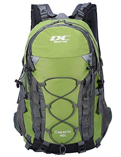 Diamond Candy Zaino da trekking, per sport all'aria aperta, da viaggio, 40 litri, per uomini e donne, Unisex adulto, verde, taglia unica