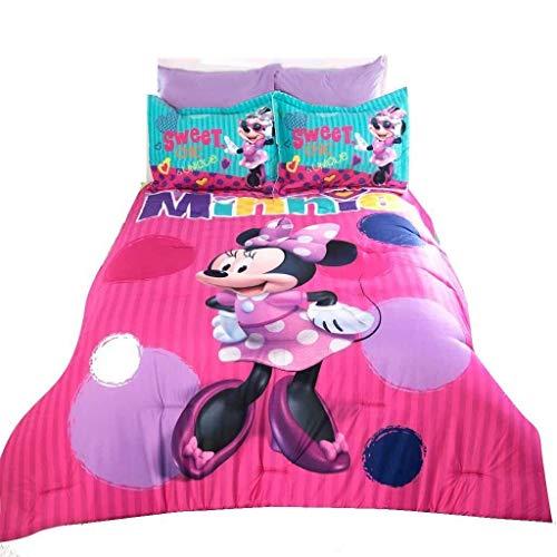 JORGE'S HOME FASHION INC New Pretty Collection Minnie Mouse Disney Original Kids Girls Comforter Set 3 PCS Queen Size