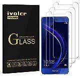 ivoler [3 Unidades] Protector de Pantalla para Huawei Honor 8, Cristal Vidrio Templado Premium