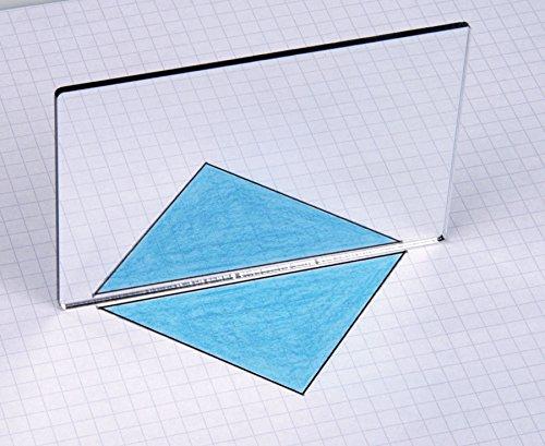 Unbekannt Geometriespiegel aus Kunstglas, einzeln - Spiegelungen Symetrien Formen Eigenschaften Schule Kinder Mathematik-Unterricht Schüler Raumvorstellungsvermögen Geometrie geometrische Körper