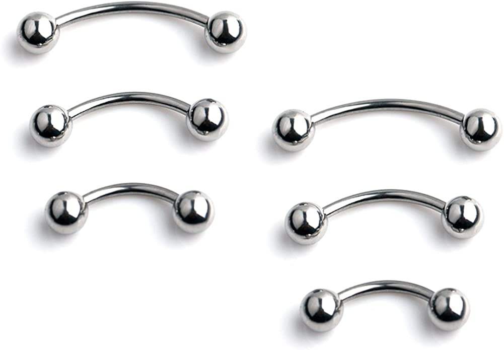 Ruifan 3prs 6pcs Surgical Steel Tiny Eyebrow Curved Ear B Ranking TOP4 Navel cheap