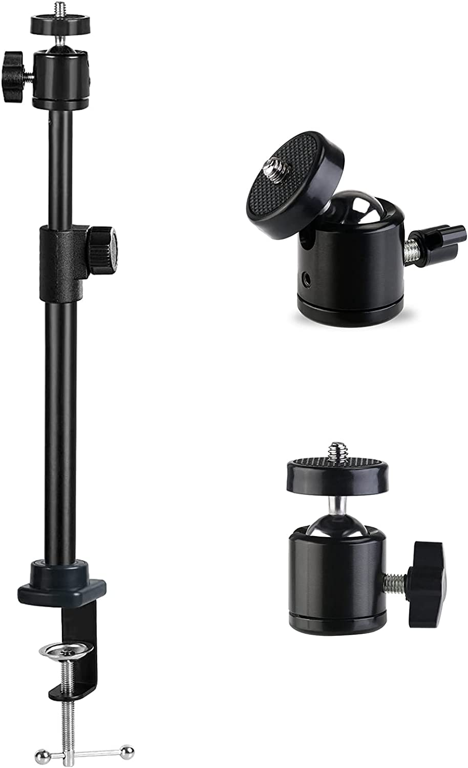 Desk NEW before selling Camera Mount Stand Table De Los Angeles Mall Clamp Webcam Light