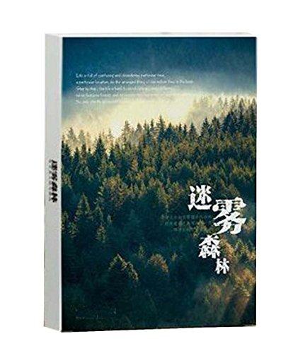 30 Stück Postkarte kreative Retro Postkarte Landschaft Grußkarte [Wald]