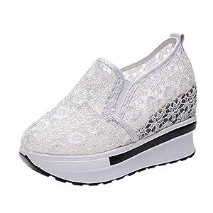 Homebaby Scarpe Zeppe Donna Eleganti,Ragazze Vintage Soft Corsa Camminata Calcetto Scarpette Stivali con Sportive Calzature Sneakers
