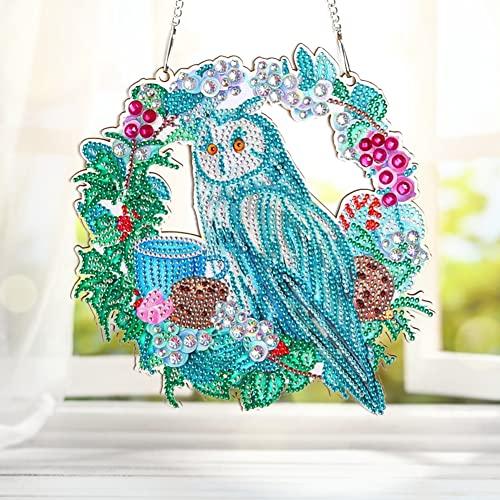 Kit de dibujo de diamantes 5D, kit de corona de flores, arte en mosaico, bordado de cristal, para decoración del hogar, 30 x 30 cm