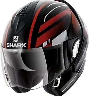 Shark Moto Casco Hark–Evoline 3Corvus, Negro/Rojo, tamaño M