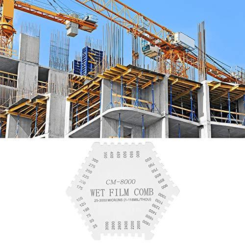 Medidor de película húmeda Excelente 25-3000 μm / 1-118 MIL/THOU Aleación de aluminio profesional Ampliamente utilizada para revestimientos de edificios para barnices para la industria