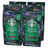 STARBUCKS Espresso Roast Café De Grano Entero De Tostado Intenso (4 Bolsa de 450g)