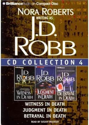J D Robb CD Collection 4 Witness in Death Judgment in Death Betrayal in Death In Death Series product image