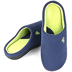 Wishcotton Mens Classic Two-Tone Slippers
