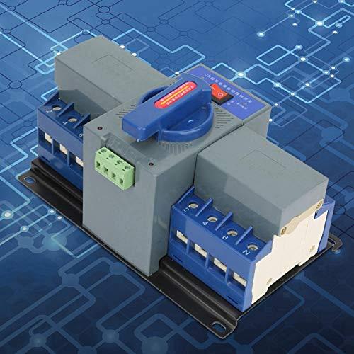 Interruptor de transferencia de energía Mini 63A 4P Interruptor de transferencia automática de doble potencia Interruptor de cambio Mini interruptor de cambio de carril DIN de doble potencia