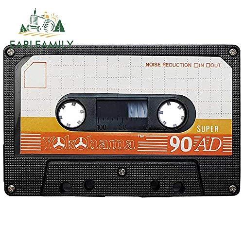 WAXY Finas de 13cm para Cassette de Audio para Coche calcomanía para Aire Acondicionado Material de Vinilo Impermeable decoración de protección solar-YT-39146-13cm
