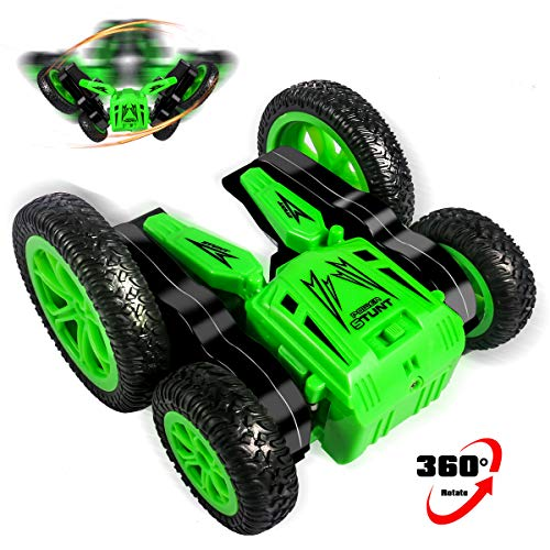 Remote Control Car RC Stunt Car for Kids, 4WD 2.4GHz Double Sided Spinning Blooming Tumbling Tricks Truck Toys for Children Age 5, 6, 7, 8, 9 and Up Year Old 360 Degree Rotating & 180 Degree Flipping.
