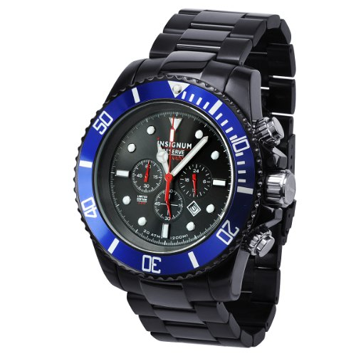 Insignum ip212405–Armbanduhr, Armband aus Edelstahl Farbe Schwarz