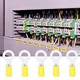 Conectores de crimpado eléctricos duraderos con resistencia a la corrosión, terminal de crimpado tipo O, aislamiento fuerte Equipo amarillo de alto voltaje para ingeniería eléctrica
