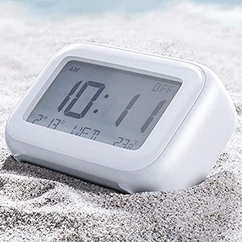 Inicio Relojes de cabecera Control táctil Reloj despertador inteligente, Silencio de cabecera para niños   estudiantes Pantalla digital Resplandor de temperatura   humedad Relojes electrónicos Snooze