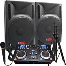 The Ultimate DJ System - 2400 WATTS! Perfect for Weddings or School Dances - Connect your Laptop, iPod via Bluetooth or play CD's! - 15