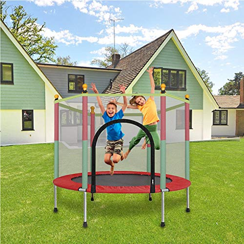 Lefthigh Trampoline with Enclosure Net 5Ft Outdoor Indoor Bounce Board Webbies Gifts for Kids Toys Jumping Mat Trampoline