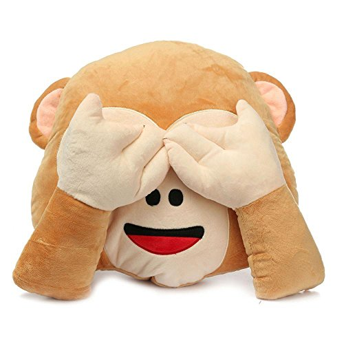 See No Evil - Wise Monkey Pillows E…