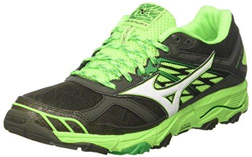 Mizuno Wave Mujin 3, Zapatillas de Running Hombre, Multicolor (Forestnight/White/brightgreen 01), 42.5 EU