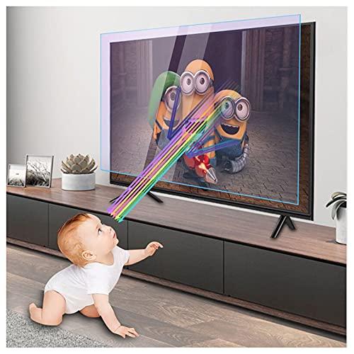 KELUNIS Anti Luz Azul/Anti Reflejante Película Protectora De Pantalla para TV, Filtrar La Luz Azul Reducir La Fatiga Ocular Y Ayudarte A Dormir Mejor para LCD, Pantallas LED,55' (1221 * 689)