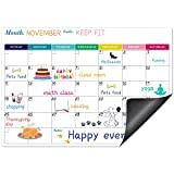 Eono by Amazon - Pizarra Nevera Magnetica, Calendario Magnetico, Organizador Semanal Magnetico, 42,8 Cm x 34 Cm