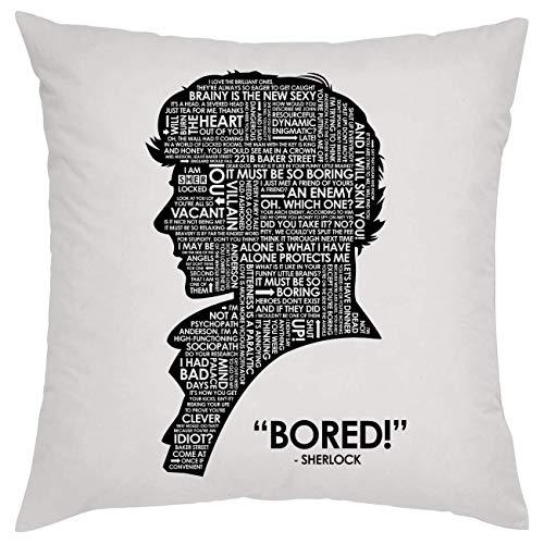 Sherlock Holmes Bored Silhouette Kissen Pillow