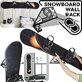 Support mural rangement pour snowboard (100% Acier) (Noir, One size)