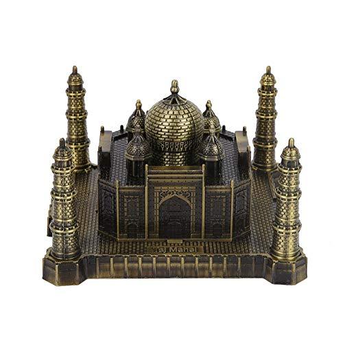 FTVOGUE India Taj Mahal Modelo Metal ArtesaníA Lugar De InteréS Mundial Edificio Creativo Taj Mahal Adornos TuríSticos Recuerdos (Bronce)
