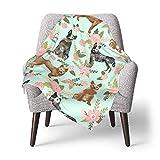 BabyBlanket,Australian Cattle Dog Pet Cheater Quilt Florals Coordinate SuperSoftReceivingBlanketsforNewbornsand ToddlersDaycarePreschool30x40Inch