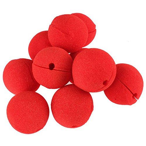 Nrpfell 10 Piezas Adorable Nariz de Payaso de Esponja de Bola Roja para DecoracióN de Boda de Fiesta Disfraz de Halloween de Navidad Accesorios de Vestido MáGico