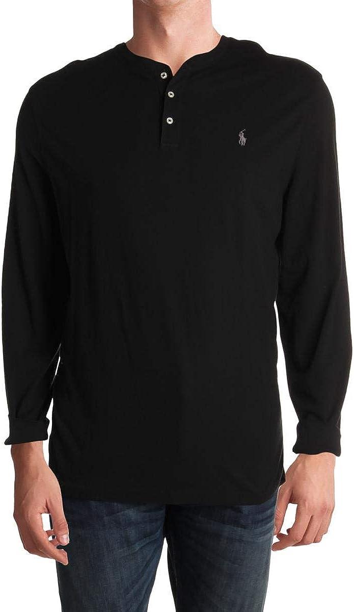 Ralph Lauren Mens Solid Henley Shirt