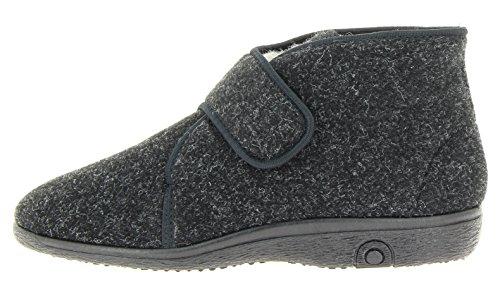 Florett Damen & Herren Hausstiefel-60 Unisex Stiefel Hausschuhe schwarz, EU 43