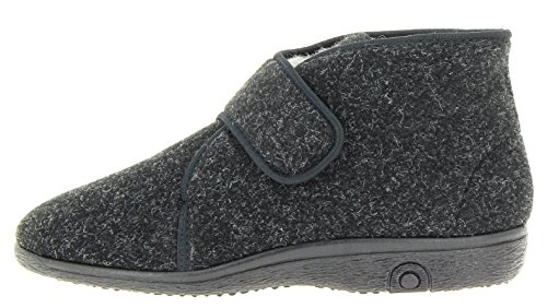 Florett Damen & Herren Hausstiefel-60 Unisex Stiefel Hausschuhe schwarz, EU 45