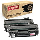 Matsuro Original | Compatible Cartucho de Toner Reemplazo para HP CE505A 05A (2 Negro)