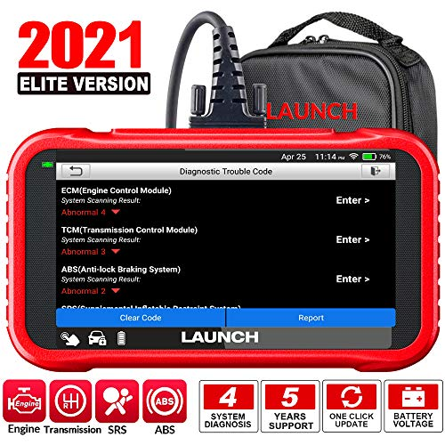 LAUNCH OBD2 Scanner CRP123E Code Reader for ABS SRS Engine Transmission Car Diagnostic Tool, Touchscreen Wi-Fi One-Click Lifetime Free Update Scan Tool with Carry Bag, Upgraded of CRP123 (CRP123E)