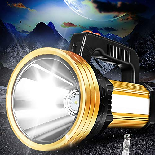 ERCZYO 160W Proyector de Mano USB portátil Incorporado 6000mah LED Recargable Reflector Linterna Linterna Impermeable Lámpara de Punto