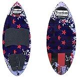 freedom wakesurf Patriot Skim surf Board 4' 4' (52.5') for Adult Men Women & Kids.Balance Wakesurf Boards | Premium Wake Surf Board for...