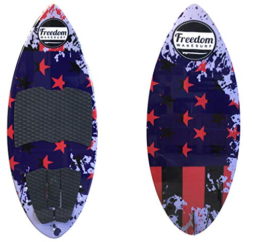 freedom wakesurf Patriot Skim surf Board 4' 4' (52.5') for Adult Men Women...