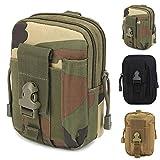 ZhaoCo Taktische Hüfttaschen, Nylon Militär Kompakt MOLLE EDC Tasche Gürteltasche Beutel Taille Taschen für Gadget-Dienstprogramm Handy Camping Wandern und Reisen - Tarnung