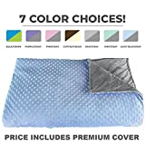 Premium Weighted Blanket, Perfect Size 60' x 80' and Weight (12lb) for Adults and Children. Deluxe CALMFORTER Blanket. Price Includes Cover!