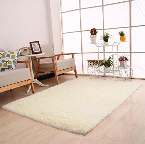 Thick Super Soft Bedroom Carpet Living Room Rug Floor Hallway Table Coffee Mat Outdoor Rug And Carpet Door Bath Carpet white 600mm x 1600mm