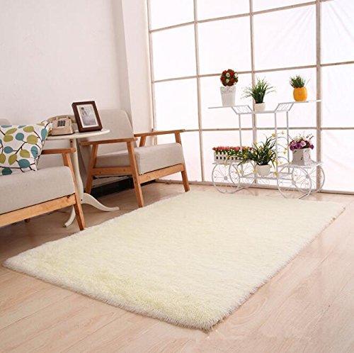 Thick Super Soft Bedroom Carpet Living Room Rug Floor Hallway Table Coffee Mat Outdoor Rug And Carpet Door Bath Carpet white 600mm x 1600mm